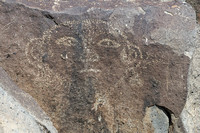 Face petroglyph at Three Rivers Site in NM-05 5-4-10