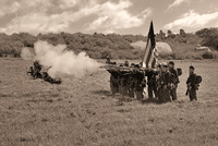 Northern soldiers firing at civil war reenactment in Vista-09-bw 3-7-09