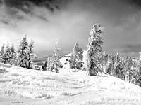 Crows Nest on west side of Mt Disney at Sugarbowl_bw 3-21-12