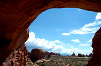 Windows area seen  from Double Arch at Arches Nat Park Ut-2 9-3-05