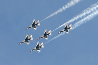 Air Force Thunderbird F16s in flight at Miramar air show-92 10-12-07