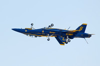 Blue Angels doing inverted pass at Miramar air show-2 10-13-06