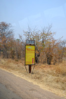 Road sign to Victoria Falls in Zambia 9-18-10