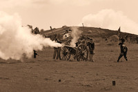 Artillery firing at civil war reenactment in Vista-09-bw 3-7-09